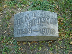 Julia E. <I>Walker</I> Housman