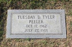Tuesday D. <I>Tyler</I> Peeler