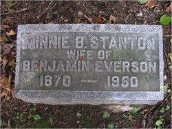 Minnie B <I>Stanton</I> Everson