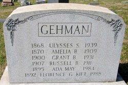 Mrs Amelia B. <I>Bergey</I> Gehman