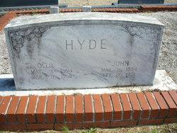 Ollie <I>Cagle</I> Hyde