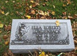 Ella <I>Roberts</I> Lowdenback