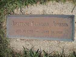 Josephine <I>Klingman</I> Johnson