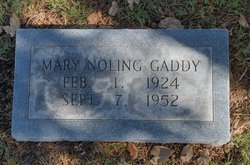 Mary Katherine <I>Noling</I> Gaddy
