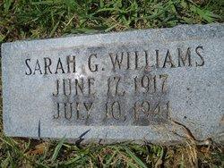Sarah G Williams