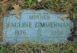 Pauline <I>Hurt</I> Zimmerman