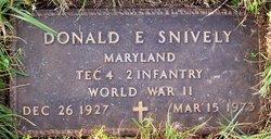 """Donald Ellsworth """"Jake"""" Snively"""