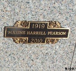 Maxine <I>Harrell</I> Pearson