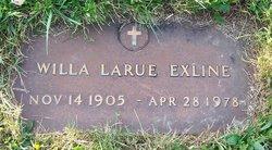 Willa LaRue <I>Canfield</I> Exline