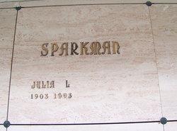 Julia L Sparkman