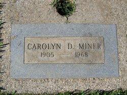 Carolyn D Miner