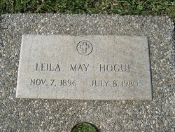 Leila May <I>Millsap</I> Hogue