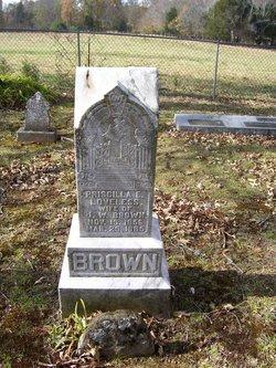 Priscilla E <I>Loveless</I> Brown