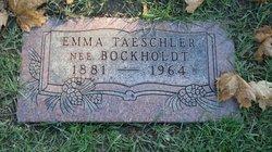 Emma <I>Bockholdt</I> Taeschler