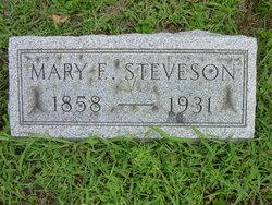 Mary E <I>Barlett</I> Stevenson