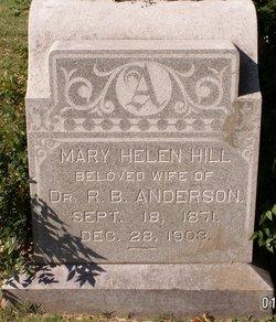 Mary Helen <I>Hill</I> Anderson