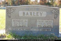 Ollie Malinda <I>Hicks</I> Baxley