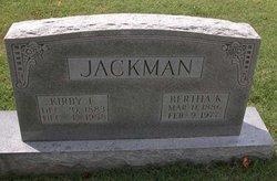 Bertha <I>Kincheloe</I> Jackman