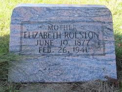 """Elizabeth """"Bessie"""" <I>Pfistner</I> Rolston"""