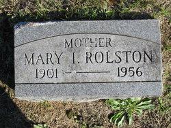 Mary I Rolston