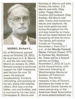 "Richard Edward ""Rick"" Morris"