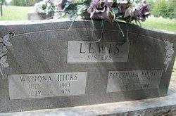 Espernola <I>Lewis</I> Houston