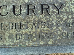 "Bridgett Agnes ""Bert"" <I>Hartnett</I> Curry"