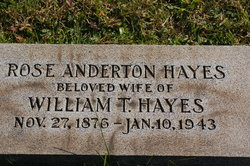 Rose <I>Anderton</I> Hayes