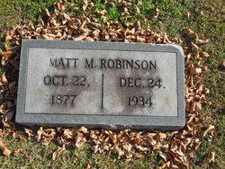 """Matthew McClung """"Matt"""" Robinson"""