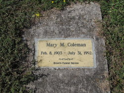 Mary M Coleman