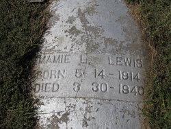 Mamie L Lewis