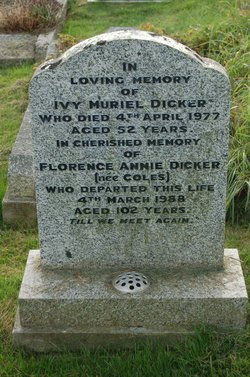 Florence Annie <I>Coles</I> Dicker
