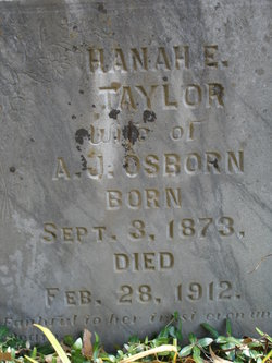 Hanah E <I>Taylor</I> Osborn