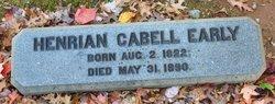 Henrian <I>Cabell</I> Early