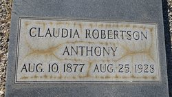 Claudia Robertson Anthony