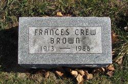 Frances <I>Crew</I> Brown