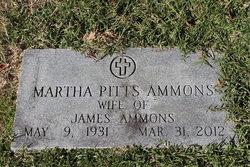 Martha <I>Pitts</I> Ammons