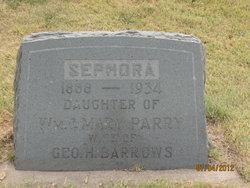 Sephora M <I>Parry</I> Barrows