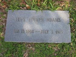 Lucy Elouise <I>Tucker</I> Adams