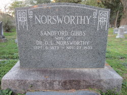 Sarah Sandford <I>Gibbs</I> Norsworthy