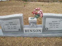 Rita <I>Tugwell</I> Benson