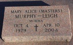 Mary Alice <I>Masters</I> Leigh