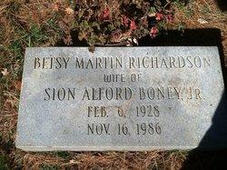 Betsy Martin <I>Richardson</I> Boney