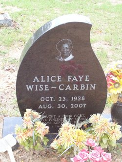 Alice Faye <I>Wise</I> Carbin