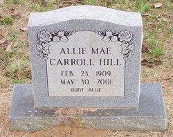 Allie Mae <I>Carroll</I> Hill