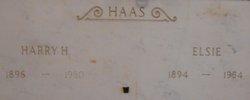 Elsie <I>Tillewein</I> Haas