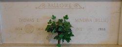 Thomas E Ballowe