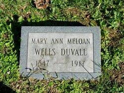 Mary Ann <I>Meloan</I> Duvall