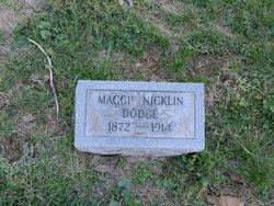 Maggie M <I>Nicklin</I> Dodge
