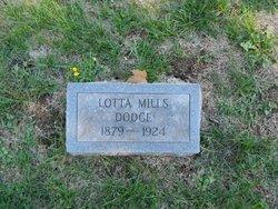 Lotta L <I>Mills</I> Dodge